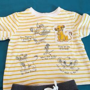 Lion King Shirt and Short Set
